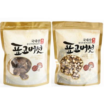 [참나무] 표고버섯 100g(원형)+깍둑썰기 100g