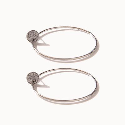 제이로렌 0M02067 오버사이즈 도넛 링 귀걸이