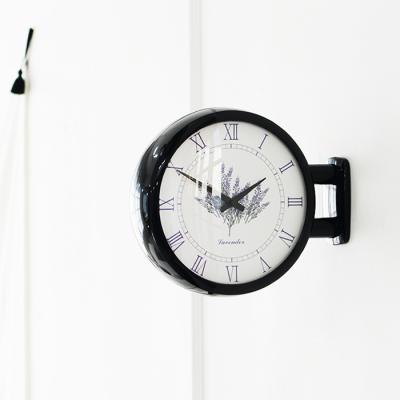 모던양면시계 라벤더 블랙