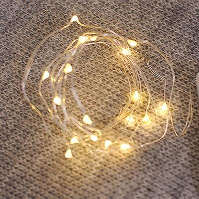 점멸 와이어 LED전구(2m 건전지형)
