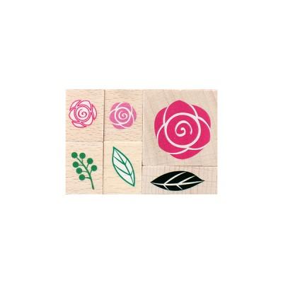 장미 데코 스탬프
