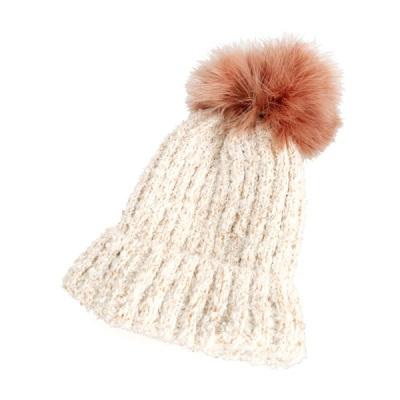 [디꾸보]보카시 골지 방울 비니 모자 AC468