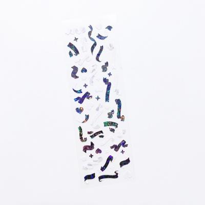 푸푸남 (자개)홀로그램 미니컨페티 블랙 씰스티커