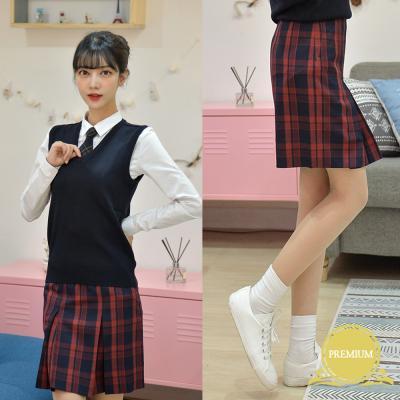 [교복사이즈] 레드블랙 치마 교복치마 교복 스커트