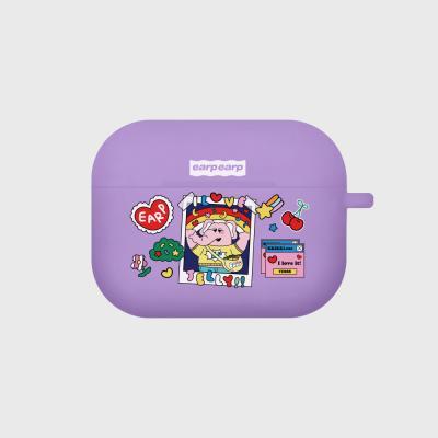 kkikki love jelly-purple(Air pods pro case)