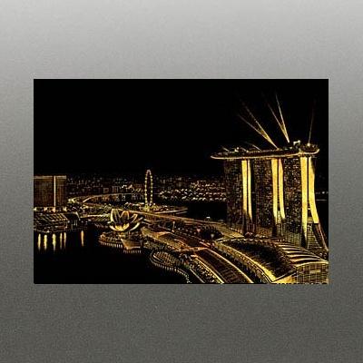 스크래치 나이트뷰_싱가폴