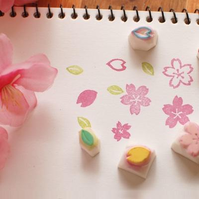 핸드메이드 스탬프_ 벚꽃