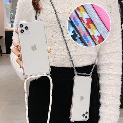 갤럭시S10플러스 핸드폰목걸이 줄 스트랩 투명케이스