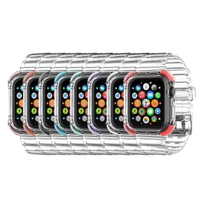 애플워치 6 5 4 3 se 투명 풀커버 밴드 케이스 시계줄
