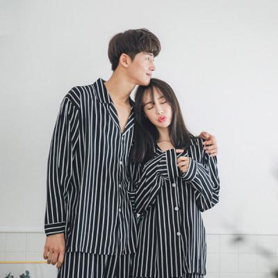 [쿠비카]맥시 스트라이프 투피스 커플잠옷 WM119