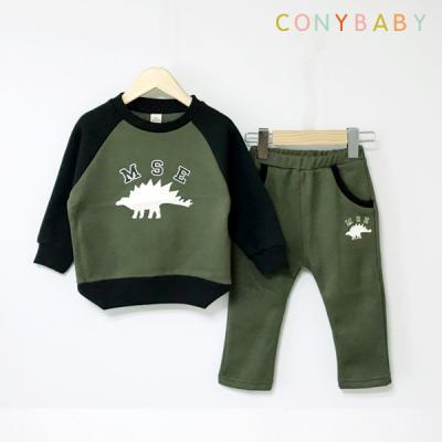 [CONY]공룡카키 기모맨투맨 상하복세트