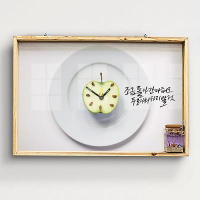 tg916-우드프레임액자_사과시계