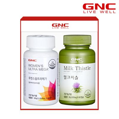 [GNC] 여성건강 세트(우먼스 멀티비타민+밀크씨슬)