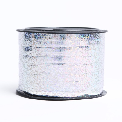컬링리본(소형)-홀로그램 실버