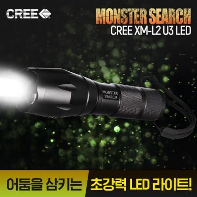 정품 몬스터 서치 라이트 2200 XM-L2 U3