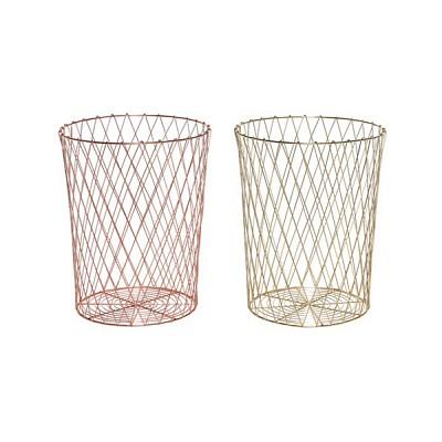 [Hubsch]Paper basket, round, metal 바스켓