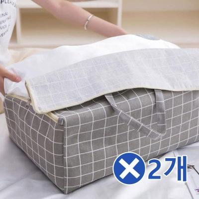 대용량 스퀘어 리빙백 중형x2개 옷정리박스 정리수납