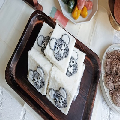 [착한떡]12간쥐 쥐 우유꿀백설기 18개입