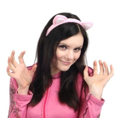 프리티 핑크 캣츠머리띠