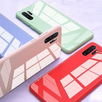 갤럭시노트10/플러스 클리어 컬러 글리터 하드 케이스