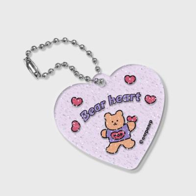bear heart(글리터키링-퍼플)