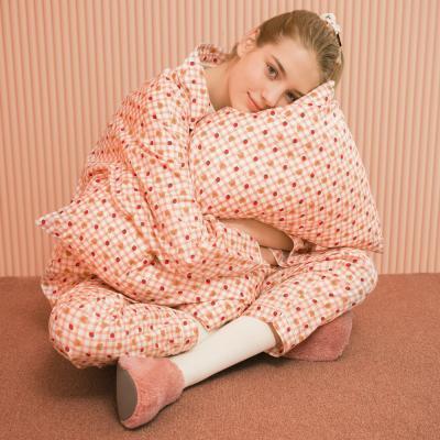 Dot strawberry check-pink(Pajamas)