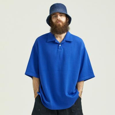 CB 오버핏 PK티셔츠 (블루)