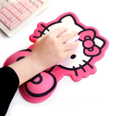 헬로키티 마우스 손목보호받침대 젤패드