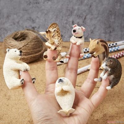 동물모형베이비허그(6종랜덤)손가락피규어(UNI705055)