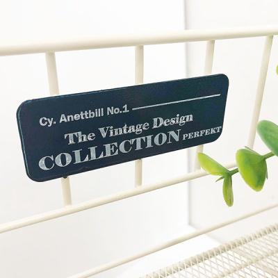 빈티지 컬렉션 와이드 철망 선반 (2color)