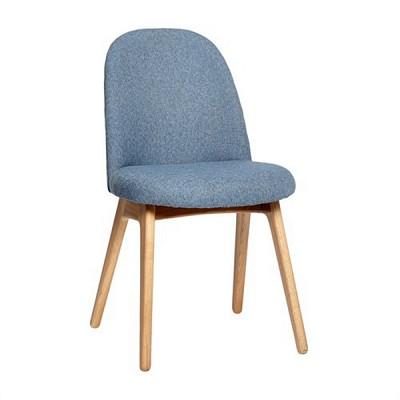 [Hubsch]Chair w/wooden legs, blue 108020 의자