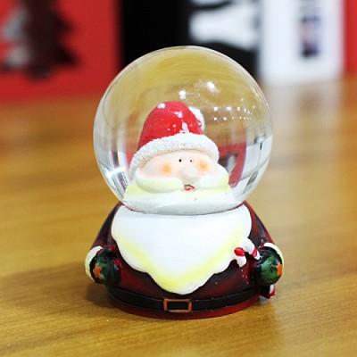 크리스마스 워터볼 스노우볼 4.5cm (산타얼굴)