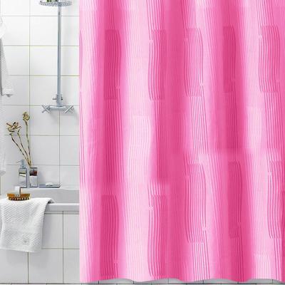 모노크로모 핑크 패브릭 샤워커튼 180x200