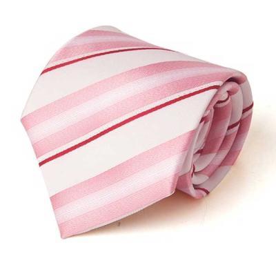 Hombre L.Pink 스트라이프  수동 넥타이 CH1623691