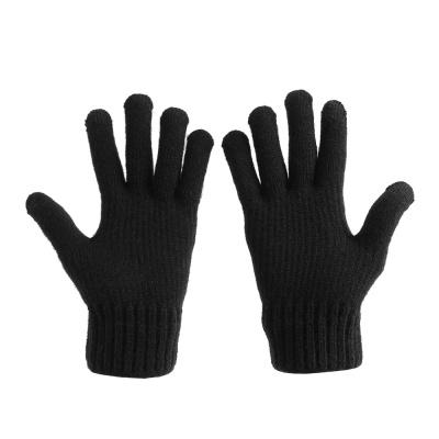 분트 터치 니트장갑(블랙) / 남성 기모 겨울장갑