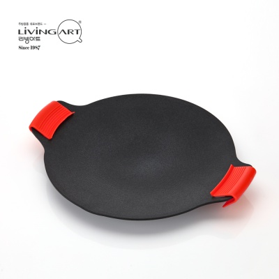 [리빙아트] 캠핑 그리들팬 33cm + 실리콘 손잡이 2p