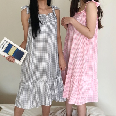 시원한 인견 소재 원피스 홈웨어 여자잠옷