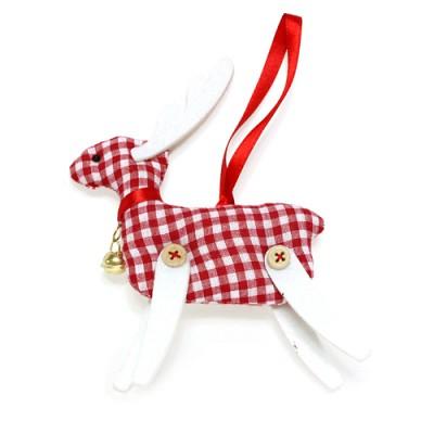 [자연과사람 /크리스마스소품] 트리장식 체크 사슴