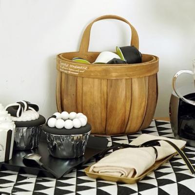 걸이형 대나무 소품 바구니 바스켓 (대형)