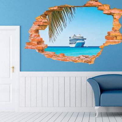 배 3D 벽지 스티커