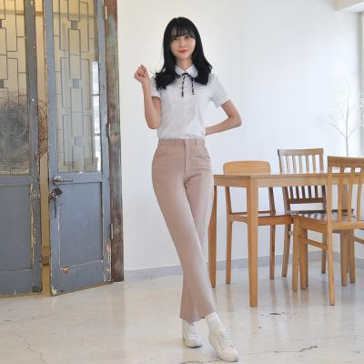 [빅사이즈] 하복 스판 연베이지 교복바지(여자) ~6XL