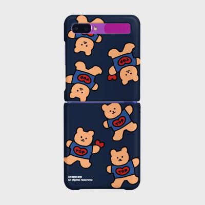 Bear heart-navy(Z플립-하드)