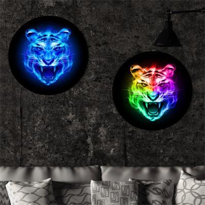 nh264-LED액자45R_풍수빛나는호랑이얼굴
