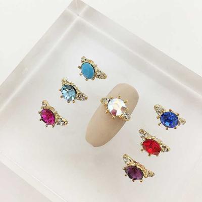 Woman bonita nail parts 큐빅메탈 웨딩 1개 7color