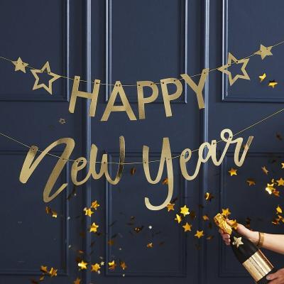[빛나파티]골드 해피뉴이어 가랜드 Happy New Year