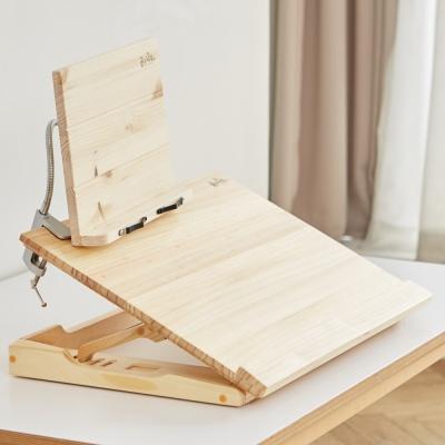 원목 각도조절 2단독서대 집중력 독서실책상 소나무