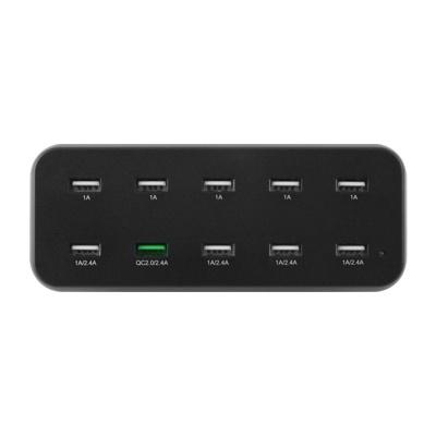 10포트 멀티충전기 12A 60W USB충전기 (블랙) LCLS414