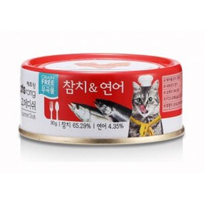 고메디쉬 참치 연어 90g 고양이 영양 보충 간식