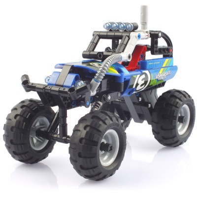 블록테크닉 빅휠 몬스터트럭 풀백블록 블루 CBT291144