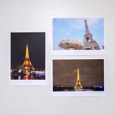 메리필름 파리 에펠탑 A3 캔버스 종이 포스터 3종